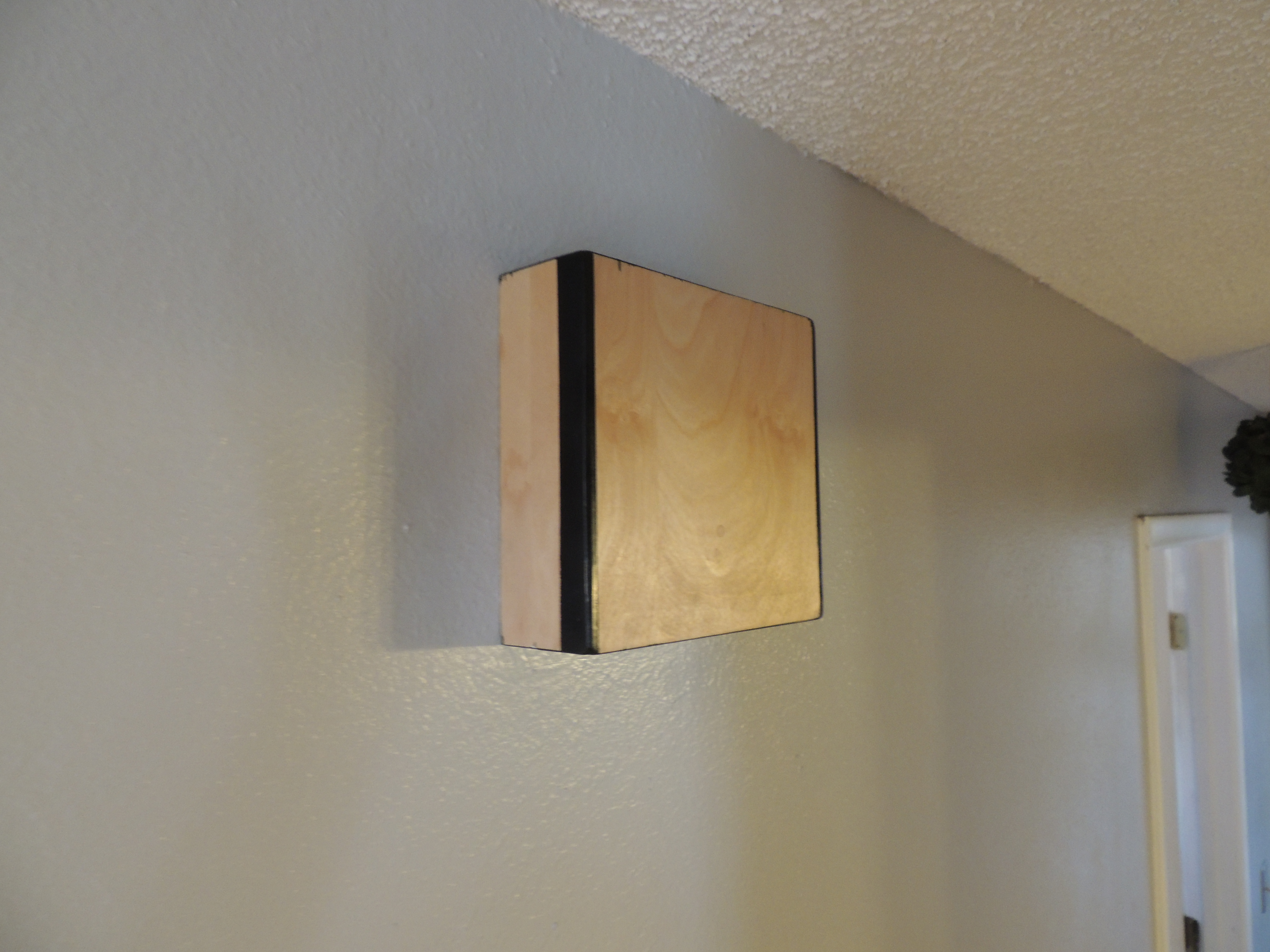 Diy Wall Light Cover : Doorbell Cover Diy & Turned A Wall Light Sconce Into My New Doorbell Chime Cover