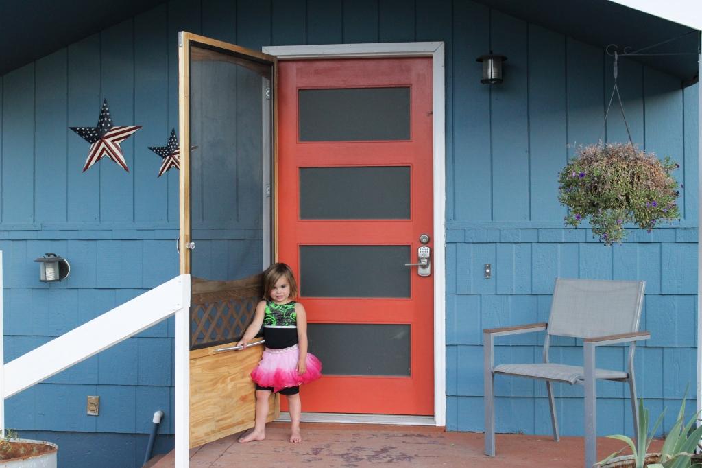 the happy crazy house front door