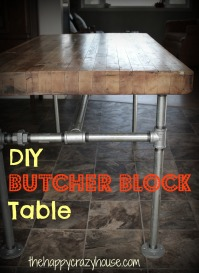 DIY the legs on a Butcher Block Table