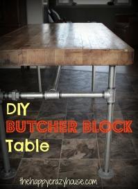 DIY the legs on a Butcher Block Table