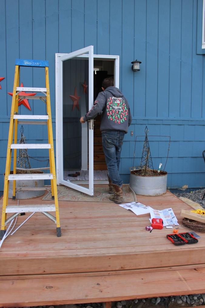 the happy crazy house - new storm door