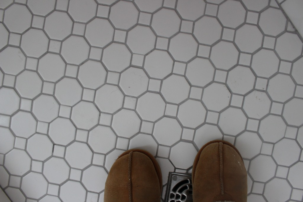 the happy crazy house master bathroom tile
