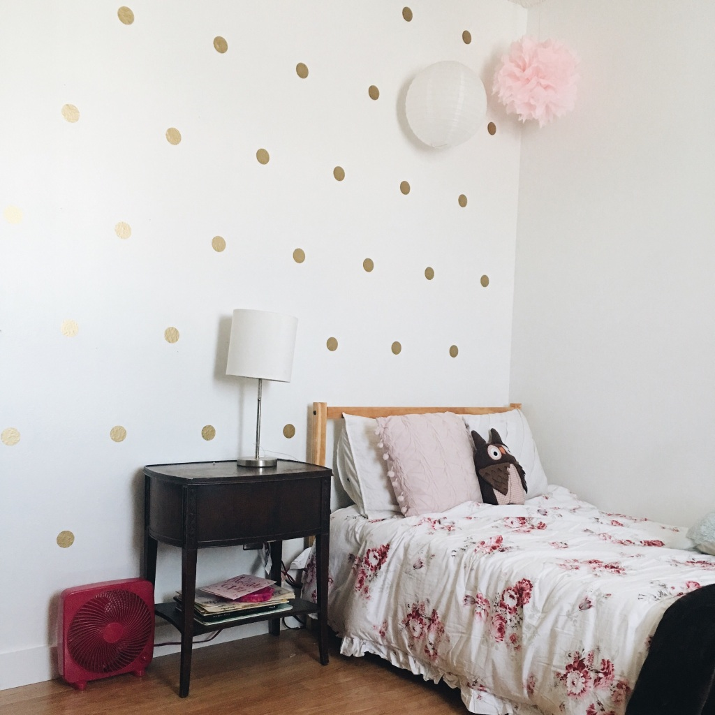 the happy crazy house gold dot shabby chic little girl bedroom