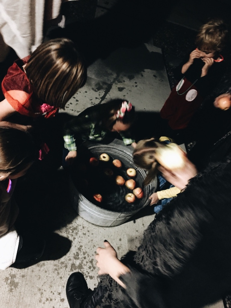 the happy crazy house bobbing for apples