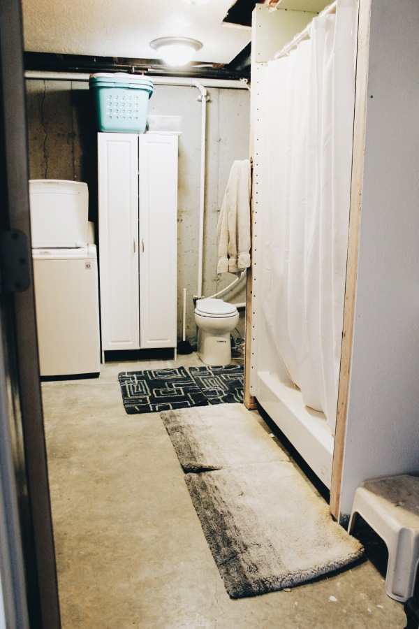 the happy crazy house basement bathroom